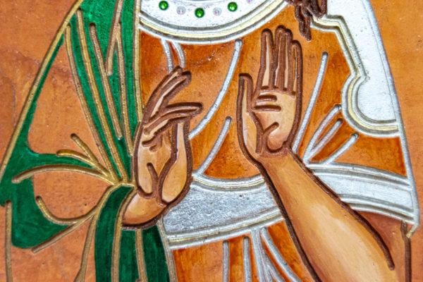 Икона Святых Саавы и Ирины № 01 из мрамора, интернет магазин икон, изображение, фото 15