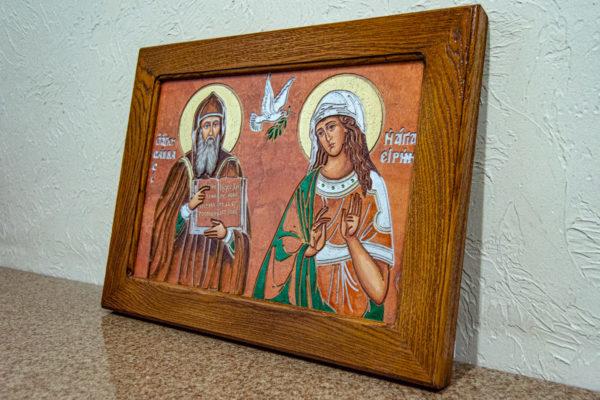 Икона Святых Саавы и Ирины № 01 из мрамора, интернет магазин икон, изображение, фото 11