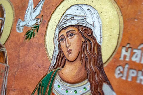 Икона Святых Саавы и Ирины № 01 из мрамора, интернет магазин икон, изображение, фото 5