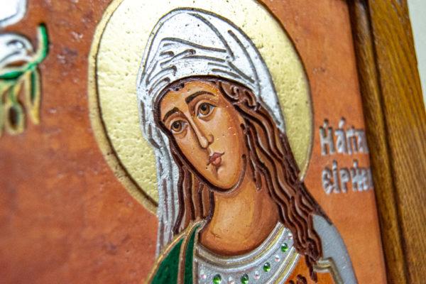Икона Святых Саавы и Ирины № 01 из мрамора, интернет магазин икон, изображение, фото 6