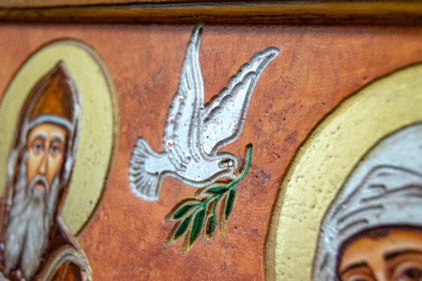 Икона Святых Саавы и Ирины № 01 из мрамора, интернет магазин икон, изображение, фото 4