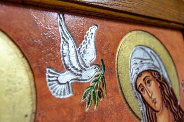 Икона Святых Саавы и Ирины № 01 из мрамора, интернет магазин икон, изображение, фото 1