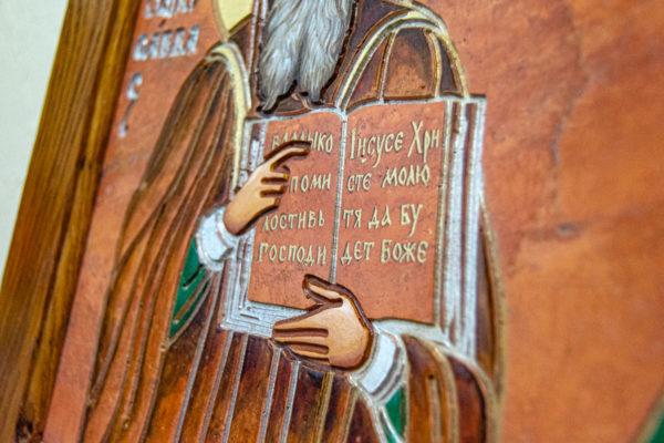 Икона Святых Саавы и Ирины № 01 из мрамора, интернет магазин икон, изображение, фото 2