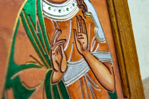 Икона Святых Саавы и Ирины № 01 из мрамора, интернет магазин икон, изображение, фото 3