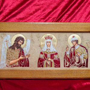 Икона Святых Иоанна, Елены и Даниила № 01 из мрамора, изображение, фото 6