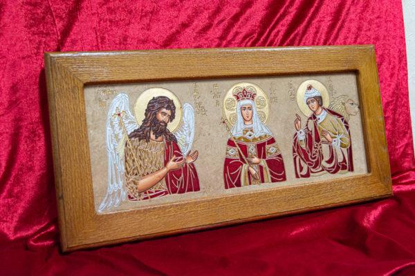Икона Святых Иоанна, Елены и Даниила № 01 из мрамора, изображение, фото 8