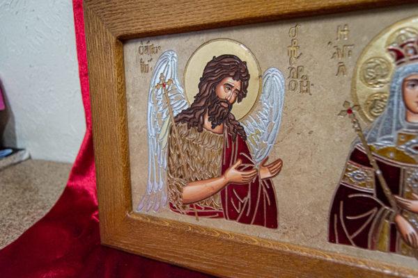 Икона Святых Иоанна, Елены и Даниила № 01 из мрамора, изображение, фото 9