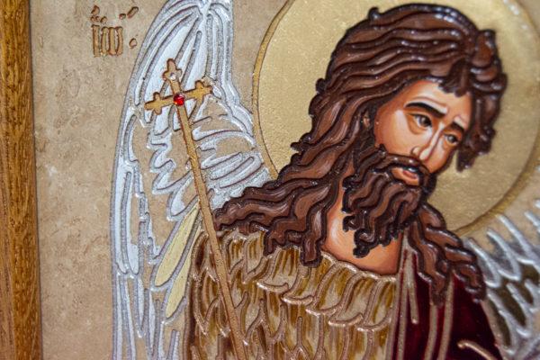 Икона Святых Иоанна, Елены и Даниила № 01 из мрамора, изображение, фото 3