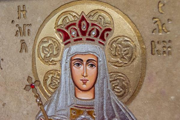 Икона Святых Иоанна, Елены и Даниила № 01 из мрамора, изображение, фото 4