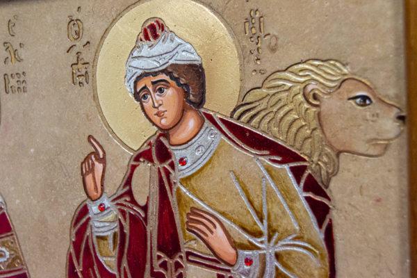 Икона Святых Иоанна, Елены и Даниила № 01 из мрамора, изображение, фото 5