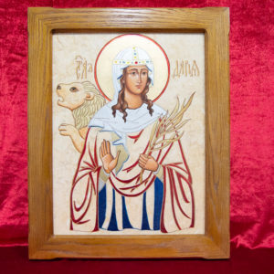 Икона Святой Дарьи Римской № 02 из мрамора, интернет магазин икон, изображение, фото 16