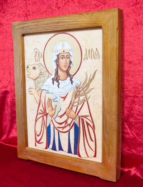 Икона Святой Дарьи Римской № 02 из мрамора, интернет магазин икон, изображение, фото 12