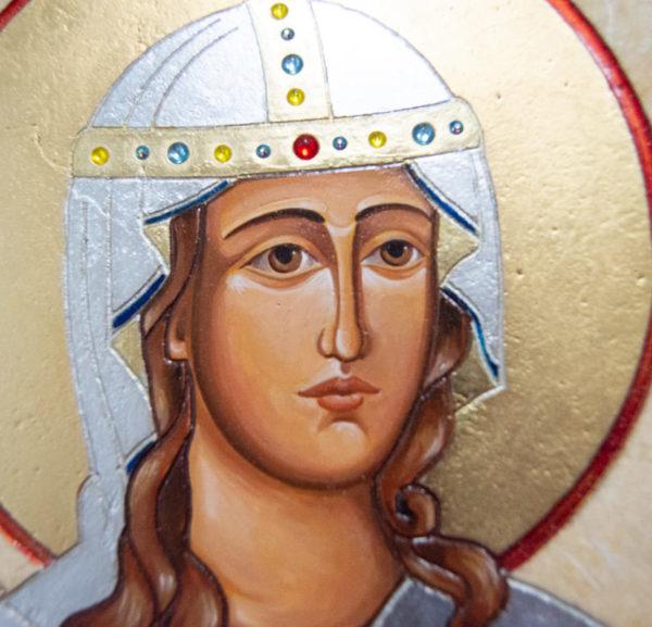Икона Святой Дарьи Римской № 02 из мрамора, интернет магазин икон, изображение, фото 13