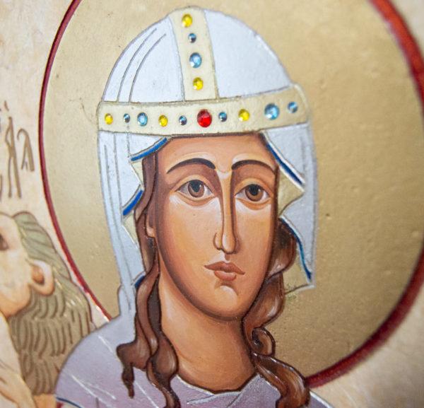 Икона Святой Дарьи Римской № 02 из мрамора, интернет магазин икон, изображение, фото 15