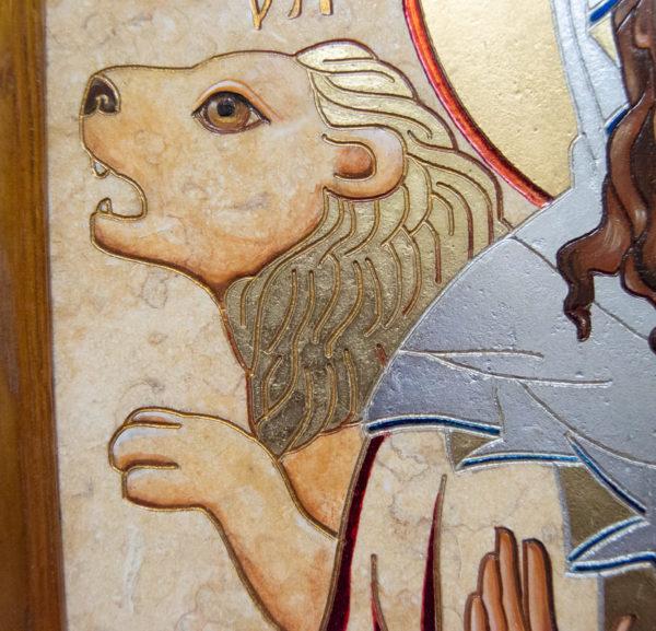 Икона Святой Дарьи Римской № 02 из мрамора, интернет магазин икон, изображение, фото 5