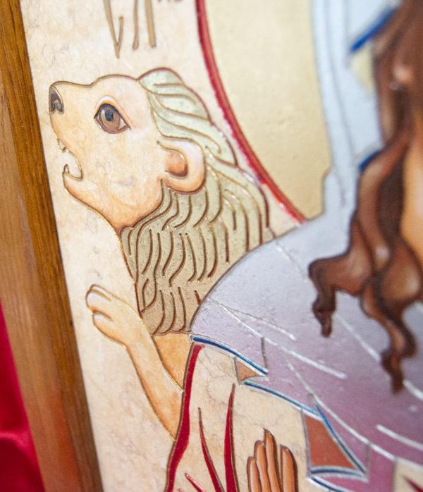 Икона Святой Дарьи Римской № 02 из мрамора, интернет магазин икон, изображение, фото 7