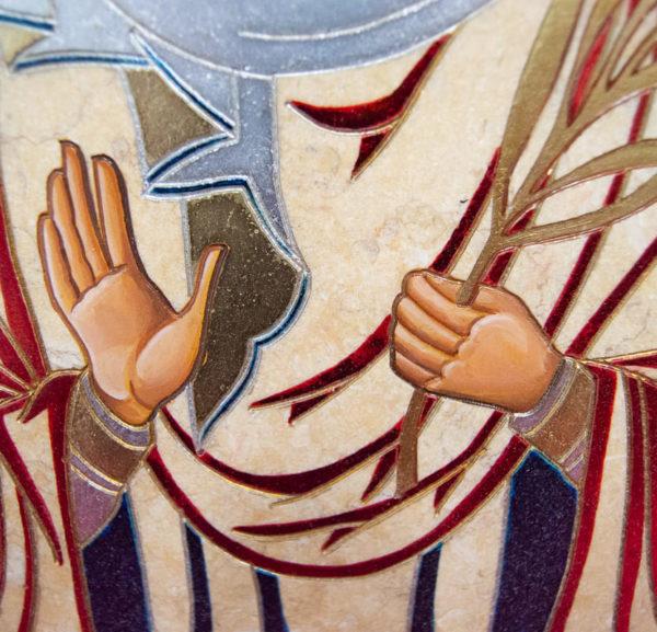 Икона Святой Дарьи Римской № 02 из мрамора, интернет магазин икон, изображение, фото 10