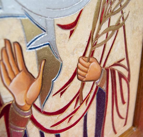 Икона Святой Дарьи Римской № 02 из мрамора, интернет магазин икон, изображение, фото 2