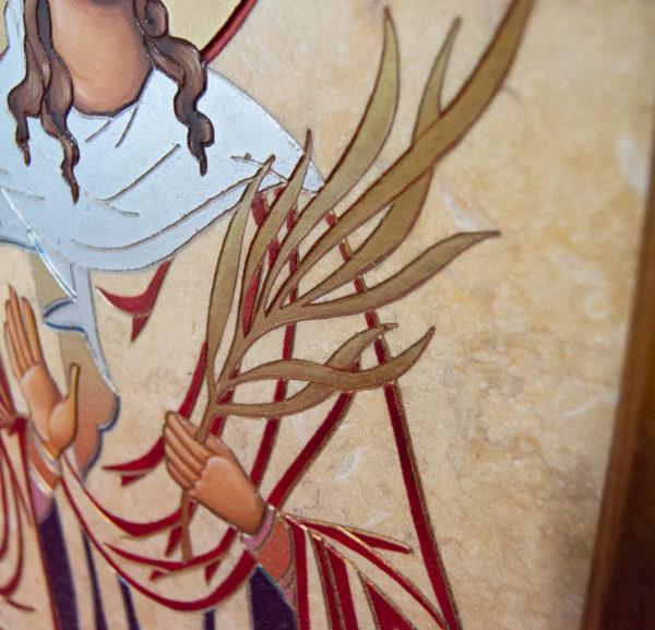 Икона Святой Дарьи Римской № 02 из мрамора, интернет магазин икон, изображение, фото 3