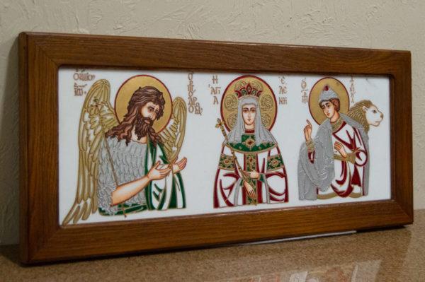 Икона Святых Иоанна, Елены и Даниила № 02 из мрамора, изображение, фото 2