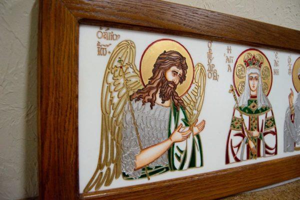 Икона Святых Иоанна, Елены и Даниила № 02 из мрамора, изображение, фото 6