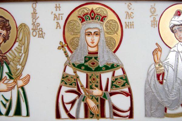 Икона Святых Иоанна, Елены и Даниила № 02 из мрамора, изображение, фото 7