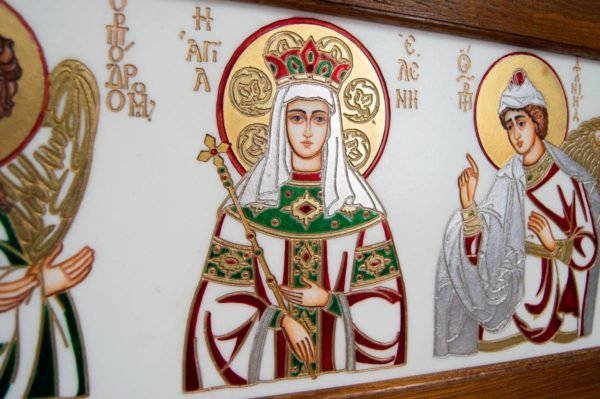 Икона Святых Иоанна, Елены и Даниила № 02 из мрамора, изображение, фото 8