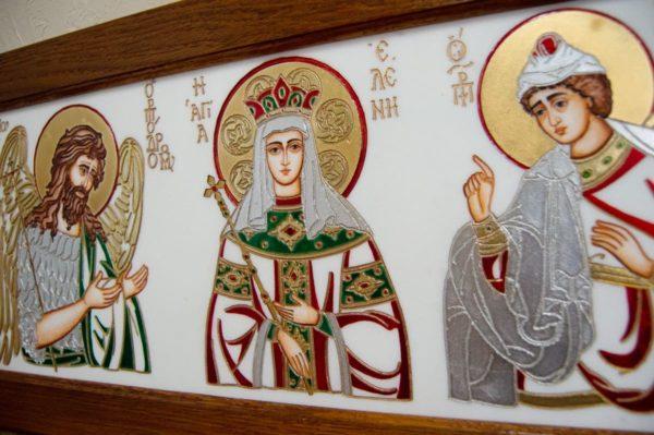 Икона Святых Иоанна, Елены и Даниила № 02 из мрамора, изображение, фото 9