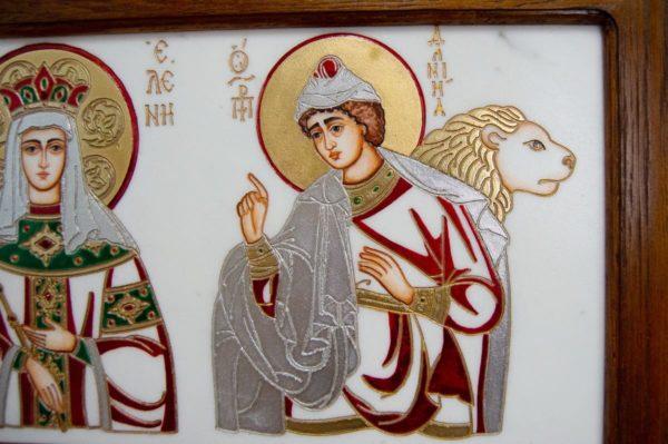 Икона Святых Иоанна, Елены и Даниила № 02 из мрамора, изображение, фото 10