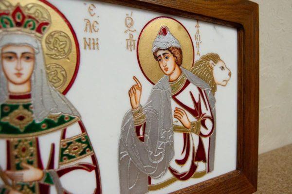 Икона Святых Иоанна, Елены и Даниила № 02 из мрамора, изображение, фото 13