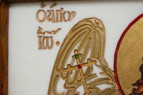 Икона Святых Иоанна, Елены и Даниила № 02 из мрамора, изображение, фото 14