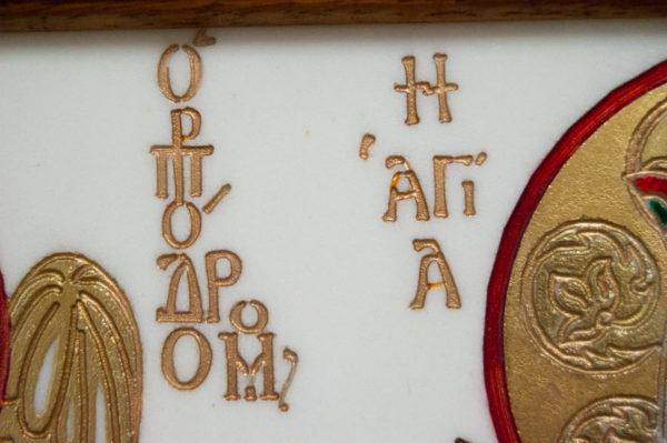 Икона Святых Иоанна, Елены и Даниила № 02 из мрамора, изображение, фото 15