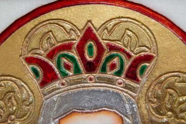 Икона Святых Иоанна, Елены и Даниила № 02 из мрамора, изображение, фото 16