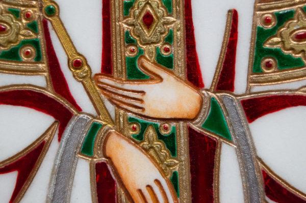 Икона Святых Иоанна, Елены и Даниила № 02 из мрамора, изображение, фото 17