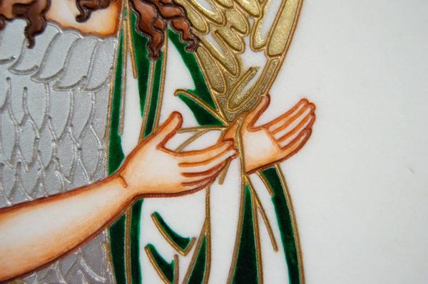 Икона Святых Иоанна, Елены и Даниила № 02 из мрамора, изображение, фото 19