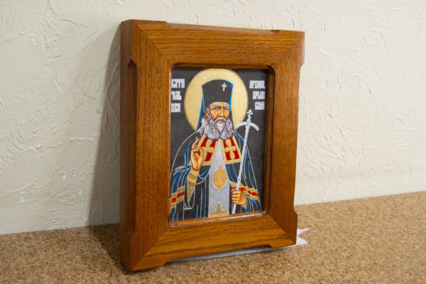Икона Луки Крымского № 03 из мрамора, камня, каталог икон, фото 3
