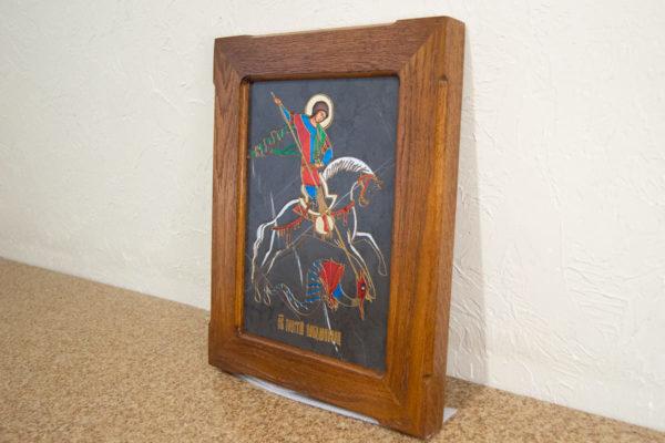 Икона Святого Георгия Победоносца № 05 из мрамора на коне, каталог, изображение, фото 2