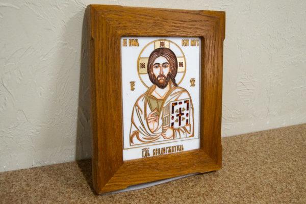 Икона Господа Вседержителя № 3-08 (Пантократор) из камня, Гливи, фото 3
