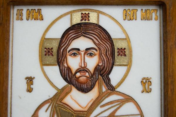 Икона Господа Вседержителя № 3-08 (Пантократор) из камня, Гливи, фото 8
