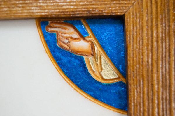 Икона Святого Георгия Победоносца № 06 из мрамора на коне, каталог, изображение, фото 9