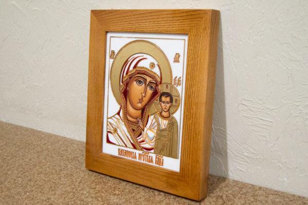 Икона Казанской Божией Матери № 45 подарочная из мрамора, изображение, фото 2