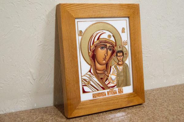 Икона Казанской Божией Матери № 45 подарочная из мрамора, изображение, фото 3