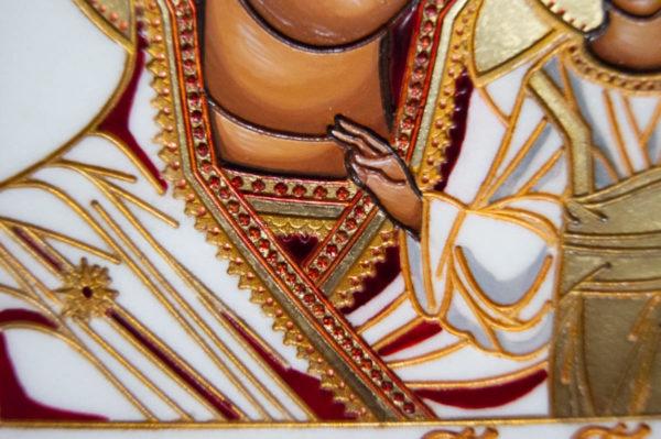 Икона Казанской Божией Матери № 45 подарочная из мрамора, изображение, фото 5