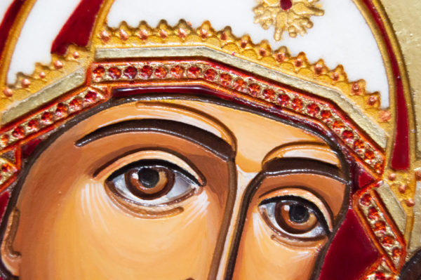 Икона Казанской Божией Матери № 45 подарочная из мрамора, изображение, фото 7