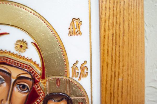 Икона Казанской Божией Матери № 45 подарочная из мрамора, изображение, фото 9