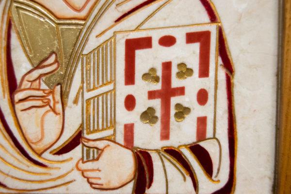 Икона Господа Вседержителя № 3-09 (Пантократор) из камня, изображение, фото 5
