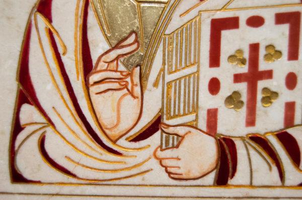 Икона Господа Вседержителя № 3-09 (Пантократор) из камня, изображение, фото 6