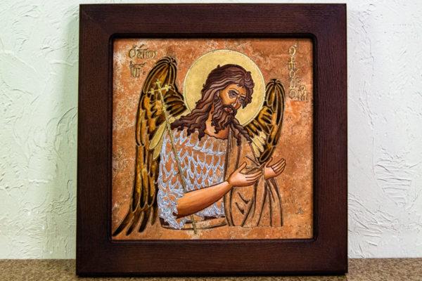 Икона Иоанна Крестителя (Иоанна Предтечи) № 01 из мрамора, магазин икон, изображение, фото 10
