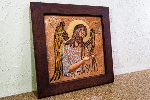 Икона Иоанна Крестителя (Иоанна Предтечи) № 01 из мрамора, магазин икон, изображение, фото 11