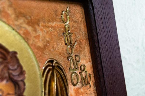 Икона Иоанна Крестителя (Иоанна Предтечи) № 01 из мрамора, магазин икон, изображение, фото 2